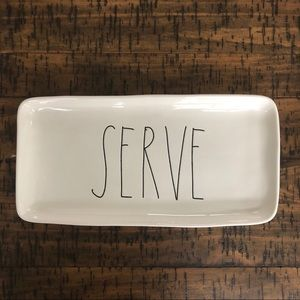 "Rae Dunn ""SERVE"" Serving Platter"